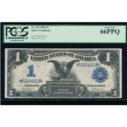 1899 $1 Black Eagle Silver Certificate PCGS 66PPQ