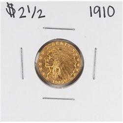 1910 $2 1/2 Indian Head Quarter Eagle Gold Coin