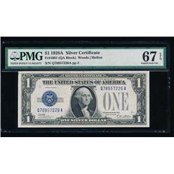 1928A $1 Silver Certificate PMG 67EPQ