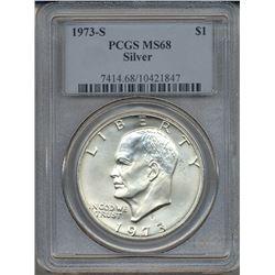 1973-S $1 Eisenhower Silver Dollar PCGS MS68