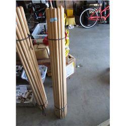 2 Dozen New Push In Broom/Mop Handles