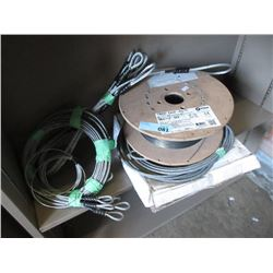 Spool of Holbart Wire Feed & 3 Steel Cables