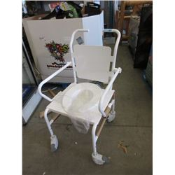 Rolling Commode Chair