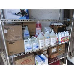 Shelf Lot Industrial Cleaning Supplies
