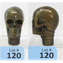 Antiqued Bronze 3D Skull Cane Handle