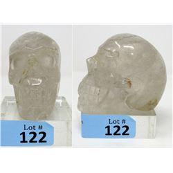 Huge! Fist Size 3D Carved Quartz Gemstone Skull