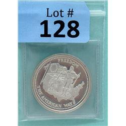 1 Oz. Johnson Matthey .999 Fine Silver Round