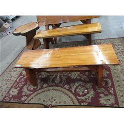 Hand Crafted Solid Wood Bench/Coffee Table