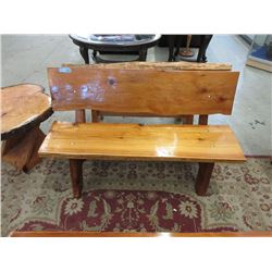 Foot Hand Crafted Solid Wood Garden Bench