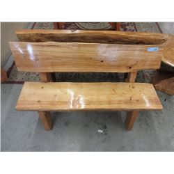 Hand Crafted Sold Wood Garden Bench