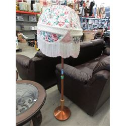 Vintage Pole Lamp with Fancy Shade