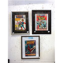 3 Pressure Framed Complete Collector Comics