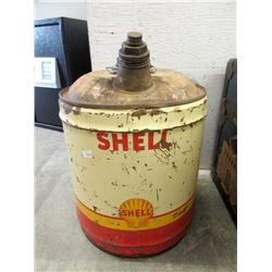 Vintage Shell Oil 5 US Gallon Oil Can