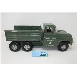1950/1960s Buddy L Pressed Steel US Army Truck