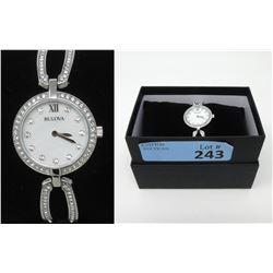 New In Box SwarovskiCrystal LadiesBulova Watch