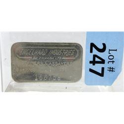 1Oz. Vintage Engelhard .999 Silver Bar