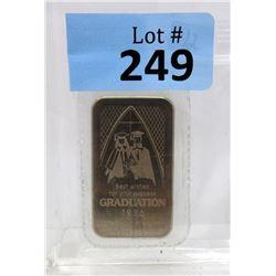 1 Oz. 1986 Graduation Motif .999 Silver Bar