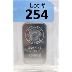 1 Oz Sunshine Minting .999 Silver Bar