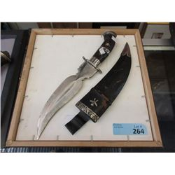 "Nepal Style Knife with Sheath - 7"" Blade"
