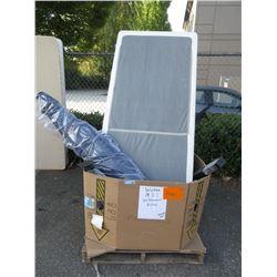Skid of Store Return Furniture Parts & Umbrella