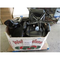 Skid of Assorted Store Return Office Chair Parts