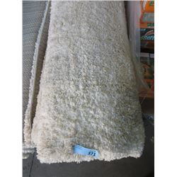 7 Foot x 9 Foot Ivory Shag Carpet - Store Return
