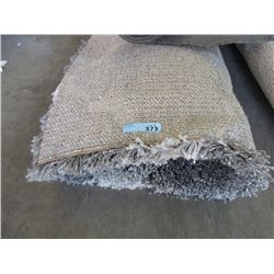 7 Foot x 9 Foot Grey Shag Carpet - Store Return