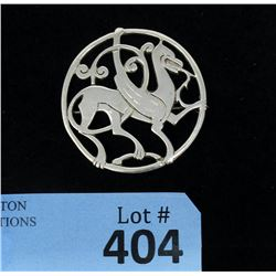 1957 Quendale Beast Sterling Silver Brooch