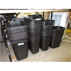 40 Black Small Trash Bins