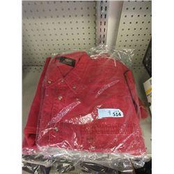 4 New Red Denim Shirts - Size XXL