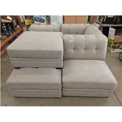 Fabric Upholstered 5 Piece Sectional