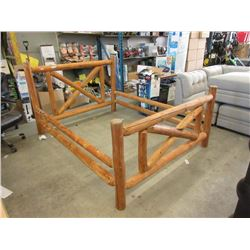Queen Size Rustic Wood Bed Frame