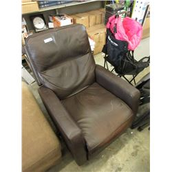 Brown Bonded Leather Arm Chair - Store Return