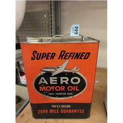 Vintage 2 Gallon Aero Motor Oil Can
