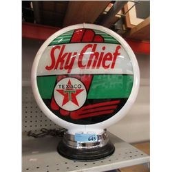 New Sky Chief Gas Pump Topper with Glass Lens