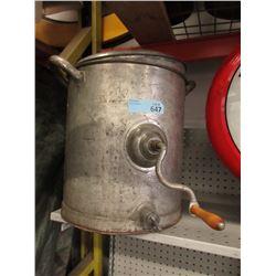 Vintage Galvanized Hand Crank Churn