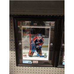 Andy Moog Autographed Oilers Photo