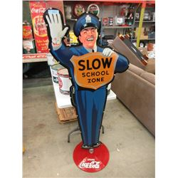 "68"" Tall Coca-Cola ""Slow School Zone"" Sign"