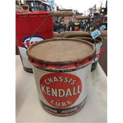 Vintage Kendall Lube 25 LB Pail with Lid