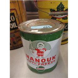 Vintage Nanouk 1 Gallon Anti-Freeze Can
