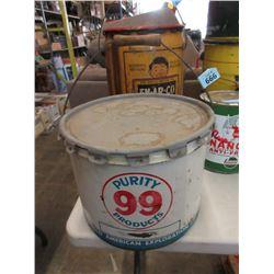Vintage 25 LB Purity 99 Pail