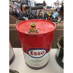 1968 9 Gallon Esso Gear Oil Pail