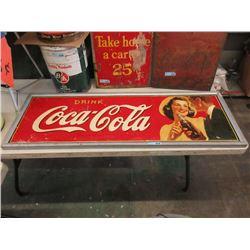 1941 Vintage Framed Sheet Metal Coca-Cola Sign