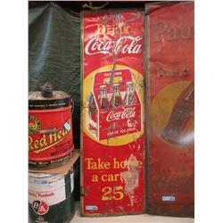 Vintage Drink Coca-Cola Metal Sign