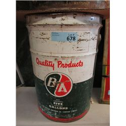 Vintage British American 5 Gallon Motor Oil Can
