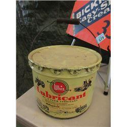 Vintage 25 LB Whiz No. 2 Farm Lubricant Can