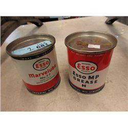 2 Vintage 1 LB Esso Cans
