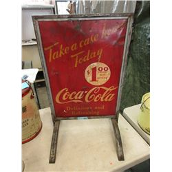 1950s double sided curb sign