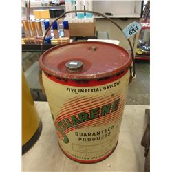 1945 Stellarene 5 Gallon Oil Can