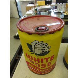 1957 White Rose 5 Gallon Oil Can